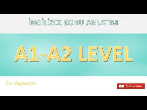 A1-A2 İNGİLİZCE TEK VİDEO'da ( 3 Aylık kurs 2 saat 15 dk )