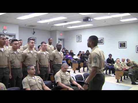 GRADUATION CEREMONY MARINE BASIC FOOD SERVICE COURSE CLASS 073 12