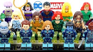 Aquaman & Captain Marvel Starforce Kree Team Unofficial LEGO Minifigures