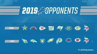 Detroit Lions 2019 Opponents - Initial Reaction