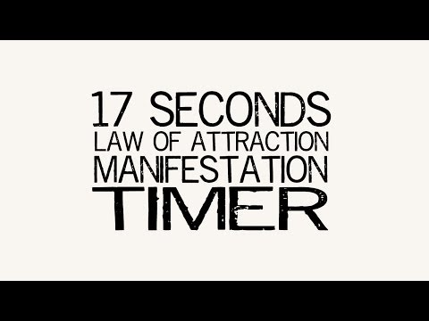 Law Of Attraction Manifestation Timer Tool 17 Second Segments 68 Seconds Total Abraham Hicks