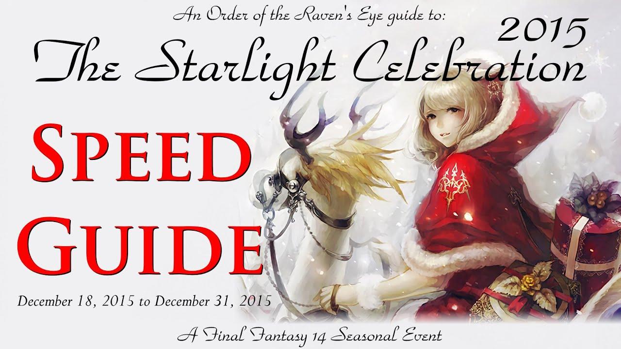 FFXIV: ARR- Starlight Celebration 2015 Guide (Christmas event ...
