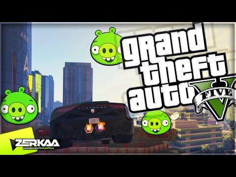 EXPLOSIVE ANGRY BIRDS | GTA 5 Funny Moments | E547 (GTA 5 PS4)