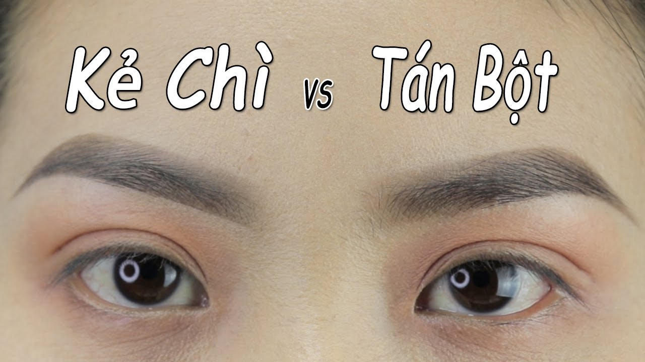 So sánh cách đánh lông mày kẻ chì và tán bột – Brush lead eyebrows and spread powder