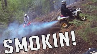 yfz 450 raptor 700 atv trail riding adventure out discovering new caves to explore part 2