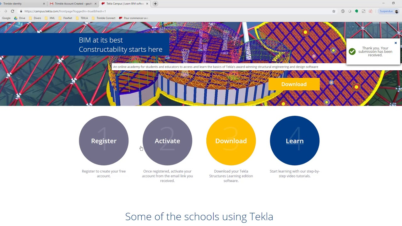 How to download Tekla Campus