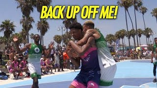 Shareef O'Neal GETS HEATED at defender Back Up Off Me & Goes to WORK!