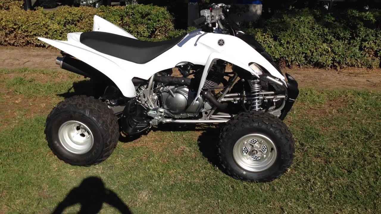 2013 Yamaha Raptor 350 White - YouTube