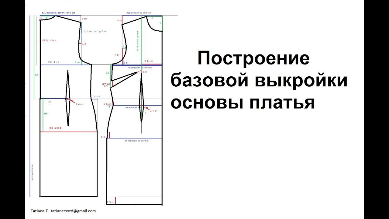 Как построить базовую выкройку с рукавом