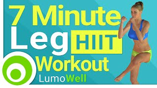 7 Minute Leg Workout to Lose Leg Fat Fast and Tone your Thighs