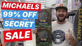 🔥 RUN!!! Michaels 90% off HIDDEN CLEARANCE SALE! YASSS!