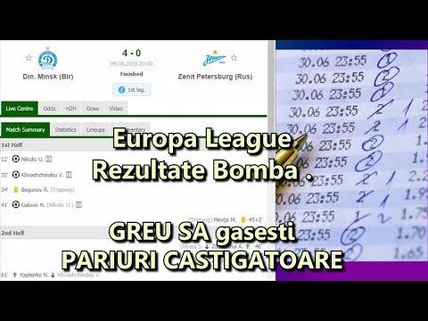 MEciuri cu rezultate Bomba in europa league. halucinante scoruri