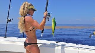 Florida Deep Sea Fishing on HUGE Seaweed Mats for Mahi Mahi aka Dolphinfish