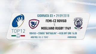 TOP12 2018/19, Giornata 3 - Femi-CZ Rovigo v Mogliano Rugby 1969