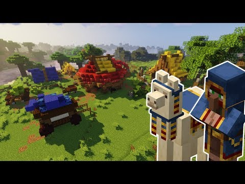 Building a Camp for Wandering Traders! | Minecraft 1.14 Inspiration [DOWNLOAD]