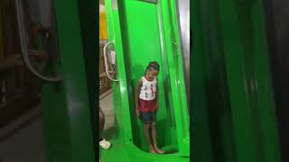 KD Rides The scariest Drop slide at 7yrs old😱