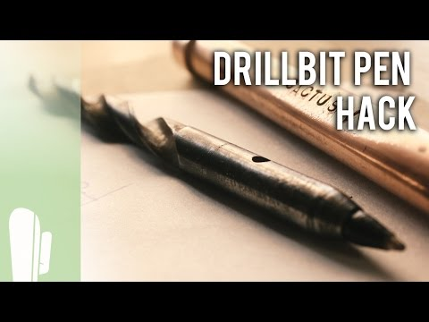 Turn a dull DRILLBIT into a PEN that still drills! - 7948 Subscribers GIVEAWAY