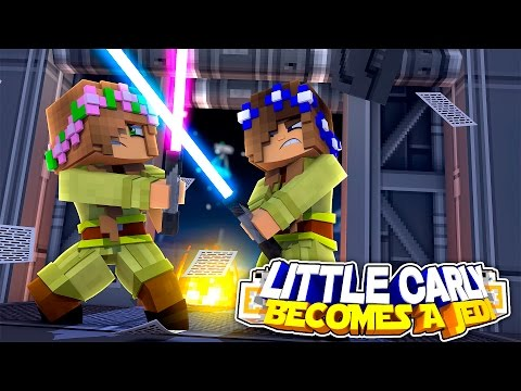 BECOMING A JEDI TO KILL RAMONA!! w/Little Carly and Little Kelly (Minecraft Roleplay)