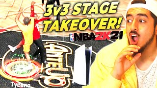 3V3 STAGE TAKEOVER WITH MY 2-WAY SHOT CREATOR! INSANE TYCENO GAMEPLAY NBA 2K21 PLAYSTATION 5