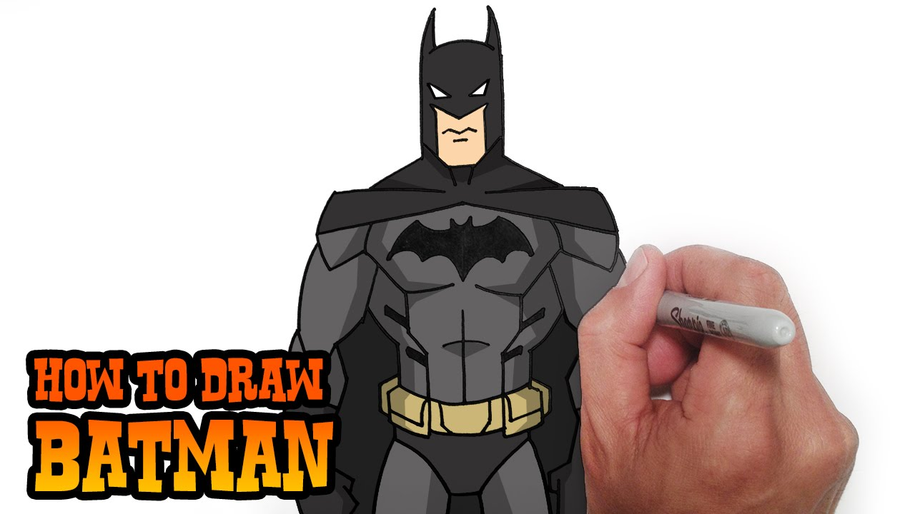 How to Draw Batman- Young Justice- Video Lesson - YouTube