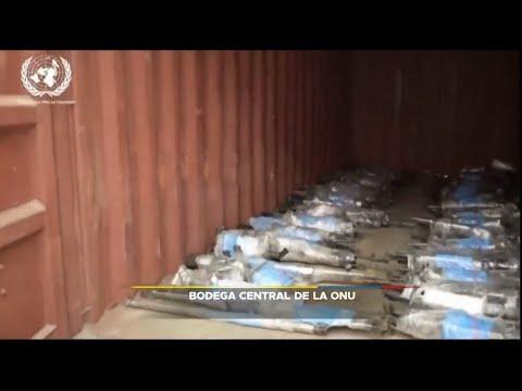 Imágenes de las armas de las FARC en bodega central de la ONU
