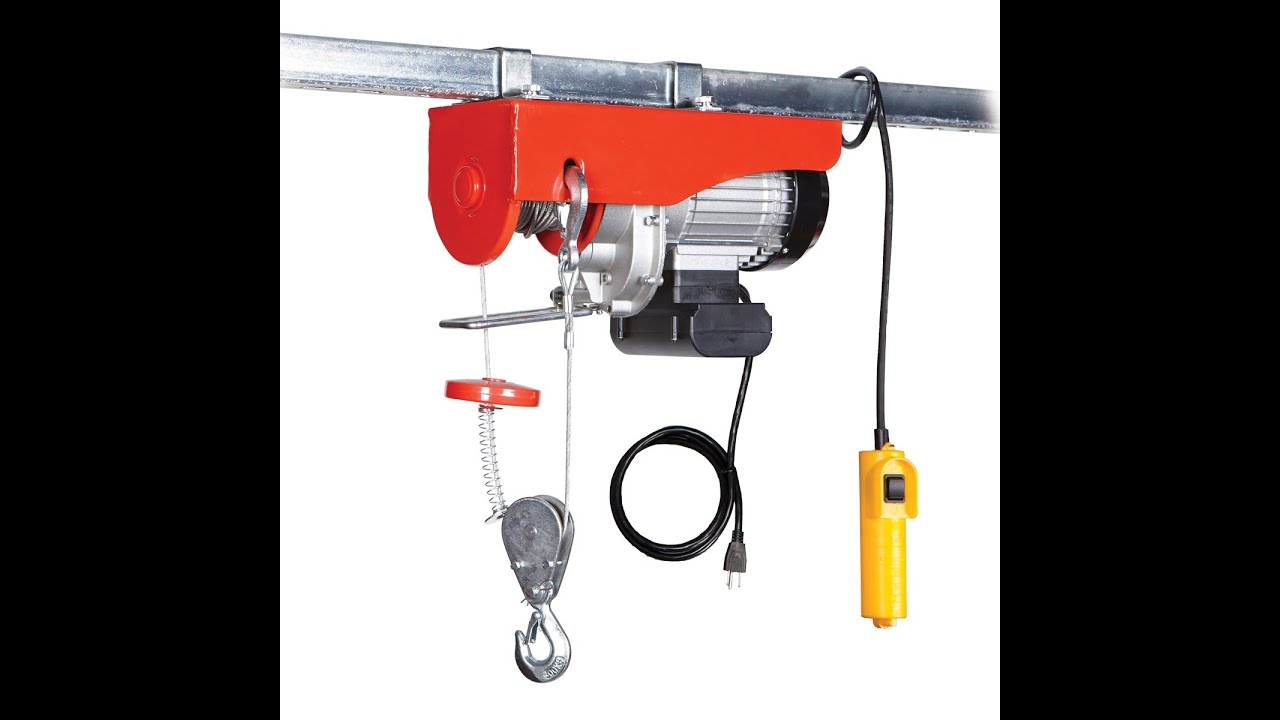 120 Volt Winch >> Hf 62854 120 Volt Winch In Use How Installed Youtube