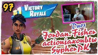 Ninja Duos Jordan.Fisher & actionjaxonbtw & SypherPK- Whiplash Skins Fortnite Game Play
