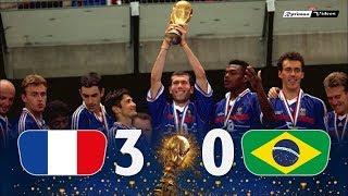 Франция Бразилия 3 0 Обзор Матча Финал Чемпионата Мира 12 07 1998 HD