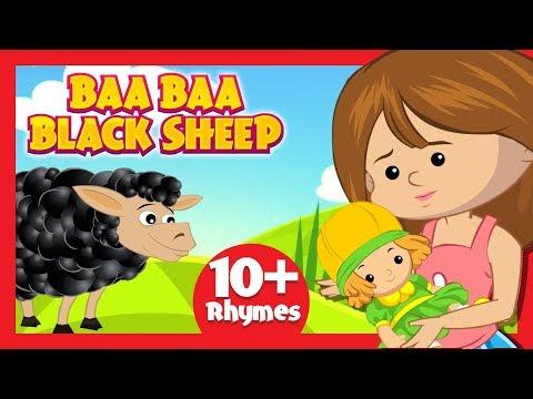 Baa Baa Black Sheep Song For Kids - Nursery Rhymes And Songs For Kids    Kids Hut English Rhymes