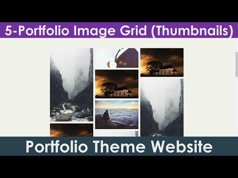5/15: Image Grid | Image Thumbnails | Image Gallery | Create Portfolio Theme Website