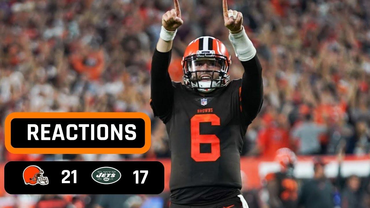84b26eb6e Cleveland Browns vs New York Jets Week 3 Thursday Night Football Recap