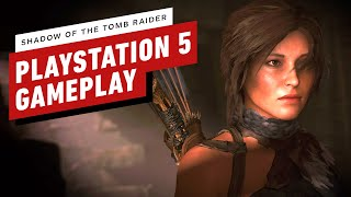 Shadow of the Tomb Raider: 16 Minutes of PS5 'High Resolution' Mode Gameplay (4K 60fps)