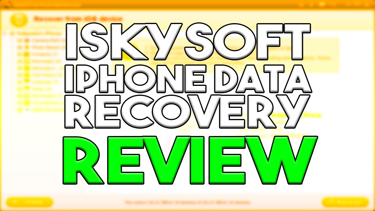 iSkysoft iPhone Data Recovery  Recover deleted photos\/message\/contacts from iPhone  YouTube