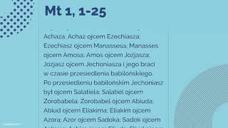 #Ewangelia   25 grudnia 2018   Msza Wigilii   (Mt 1, 1-25)