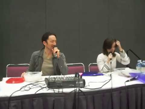 Todd Haberkorn & Cherami Leigh as Natsu and Lucy getting cookies and bars
