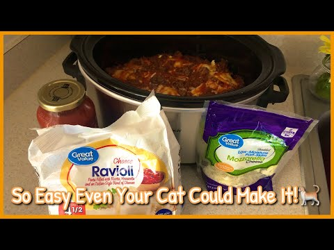4 Ingredient Crockpot Ravioli