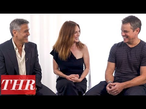 George Clooney, Julianne Moore, & Matt Damon Talk 'Suburbicon,' All About Poor Choices & Blame | THR