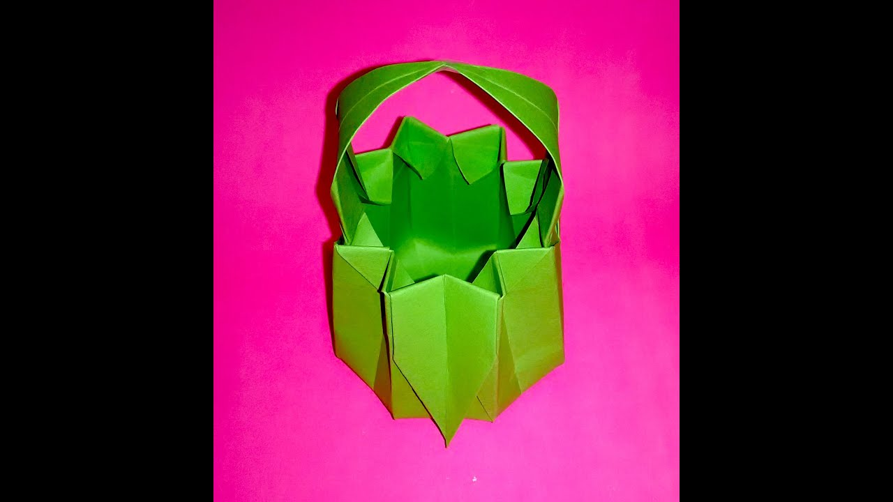 Paper basket for sweets origami basket ideas for easter youtube negle Images