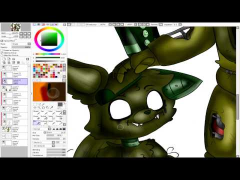 speedpaint fnaf springtrap and his friends