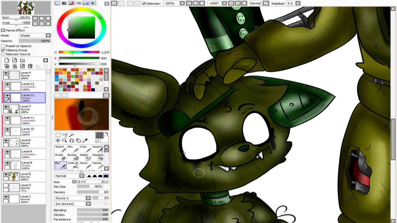 Speedpaint Fnaf Springtrap And His Friends Youtube