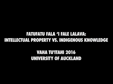 Lalava: A Chiefly Art of Tonga - Indigenous Intellectual Property