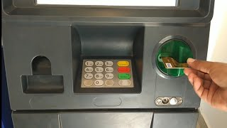 ATM machine use h๐w to withdraw money in English