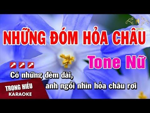 Karaoke Những Đóm Mắt Hỏa Châu Tone Nữ Nhạc Sống | Trọng Hiếu