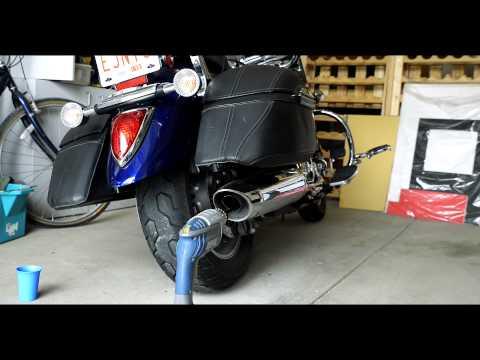 2007 Yamaha V Star 1300 Motorcycle Exhaust Modifcation
