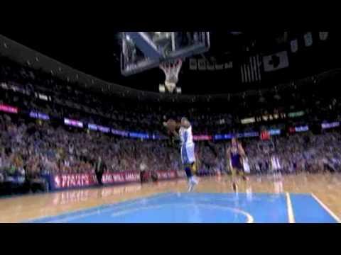 dahntay jones fastbreak windmill dunk....lakers vs nuggets game 4 2009 playoffs
