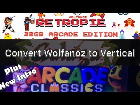 Arcade1Up Galaga Mod - Convert Image to Vertical