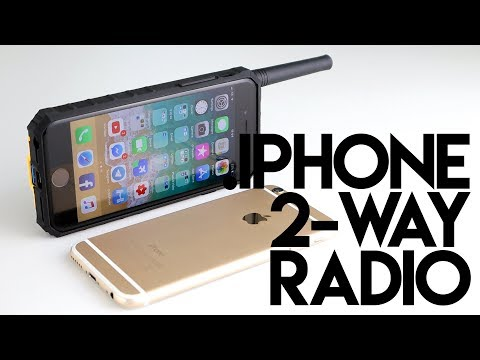 Turn Your iPhone Into A Walkie Talkie! - IP01 Power Bank, Phone Case & Two Way Radio