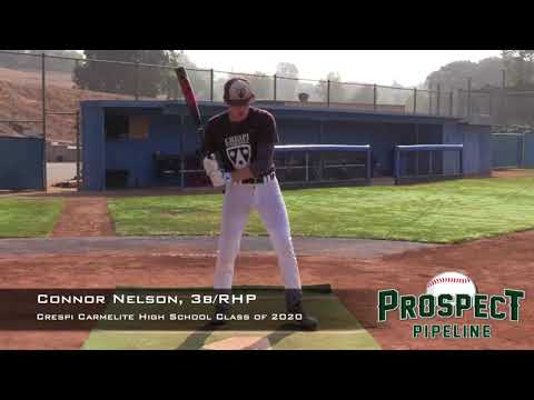 Connor Nelson Prospect Video, Inf, Crespi Carmelite High School Class of 2020
