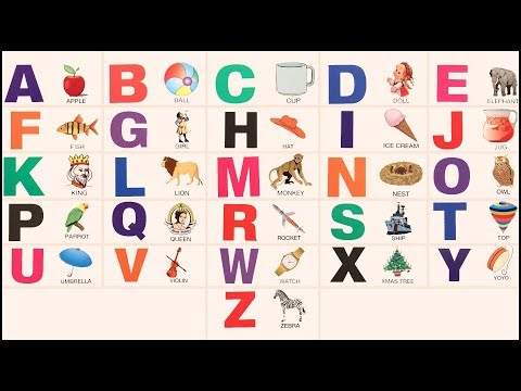 Learning A to Z Alphabets For Kids Children Babies Toddlers | ABC Song | Nursery Rhymes | Kids TV