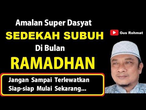 Amalan Super Dasyat, Sedekah Subuh Di Bulan Ramadhan